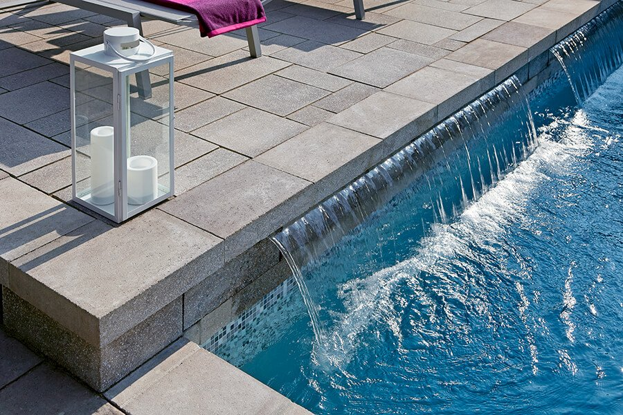 modern wall caps and pool coping Prima Polished couronnement et contour de piscine moderne 00988 0413