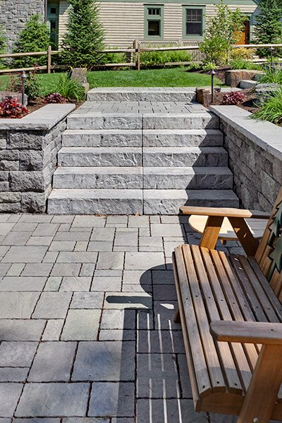 outdoor steps and stairs Rocka Step marches extérieurs A00389 01 6957 Blend 0 & Röcka Step - Stone Steps   Techo-Bloc