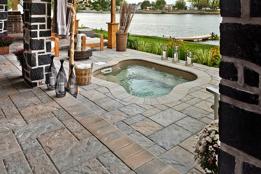patio paver slabs Blu 45 slate dalle de patio 00953 6646