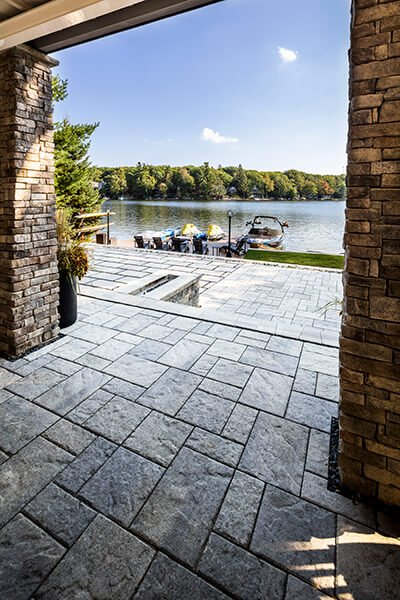 patio paver slabs Blu 45 slate dalle de patio A00430 05 733