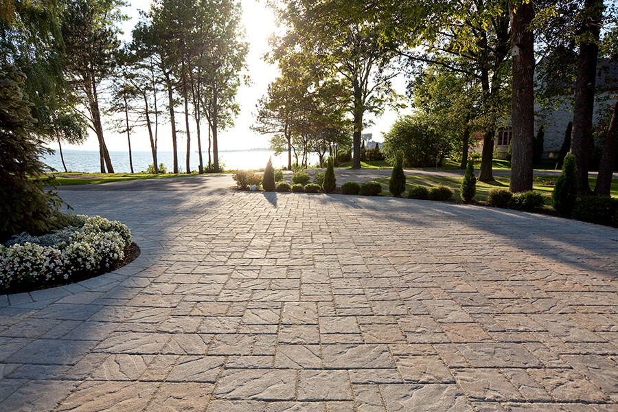 patio paver slabs Blu 60 Slate Aged dalle de patio 00686 4366