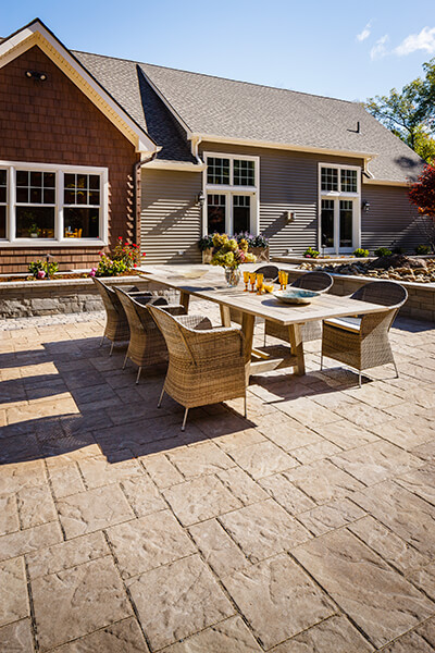 patio paver slabs Blu 60 Slate dalle de patio A00412 05 223