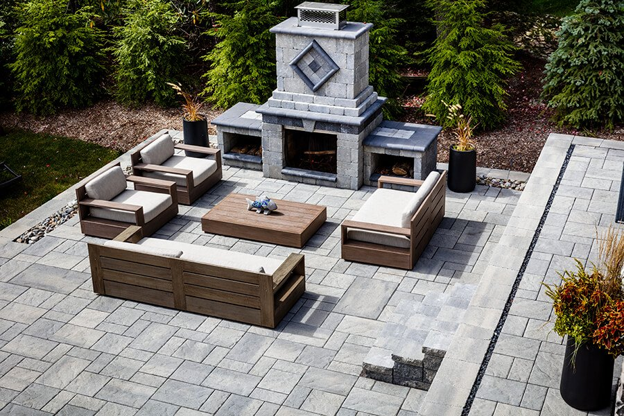 patio paver slabs Blu 60 Slate dalle de patio A00430 05 356