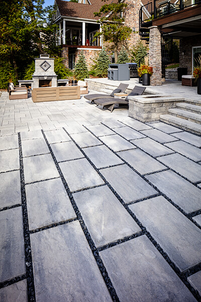 patio paver slabs Blu Grande Slate dalle de patio A00430 05 035