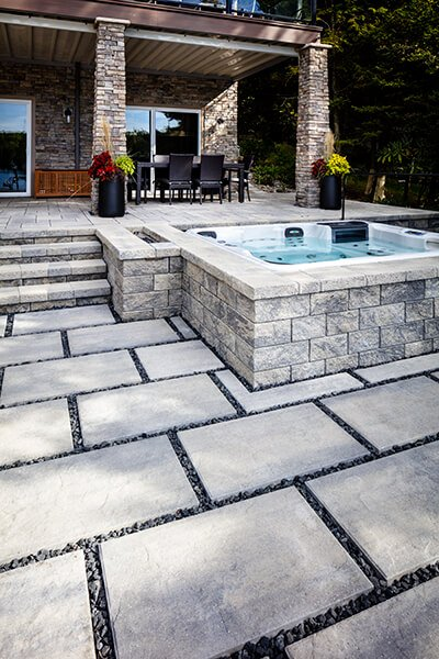 patio paver slabs Blu Grande Slate dalle de patio A00430 05 090