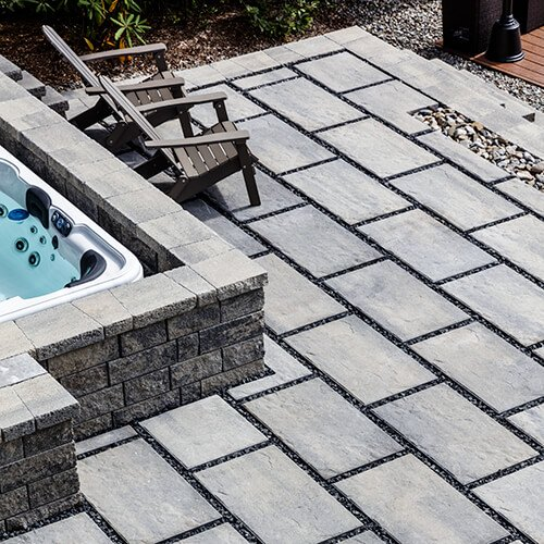 patio paver slabs Blu Grande Slate dalle de patio A00430 05 371