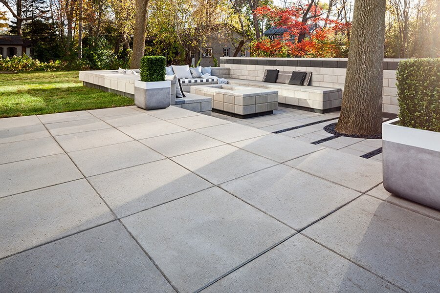 patio paver slabs Industria Smooth Slabs dalle de patio 01015 05 274