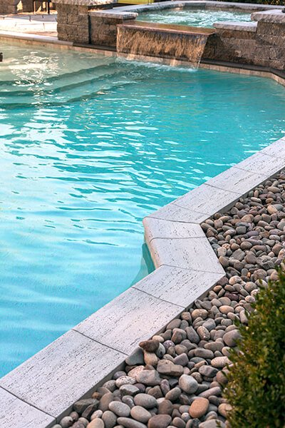 pool coping Bali travertina raw couronnement de piscine A00371 6807 bali
