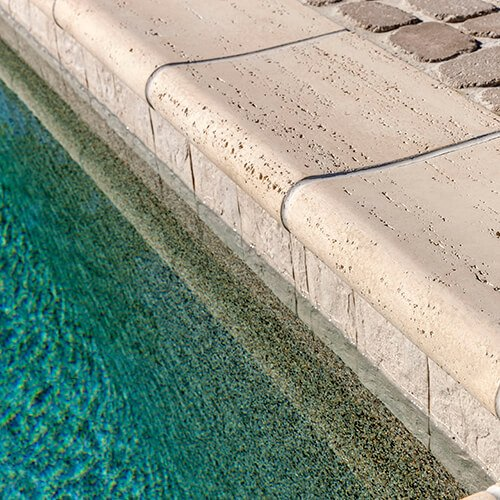 pool coping Bali travertina raw couronnement de piscine A00410 05 091 HDR