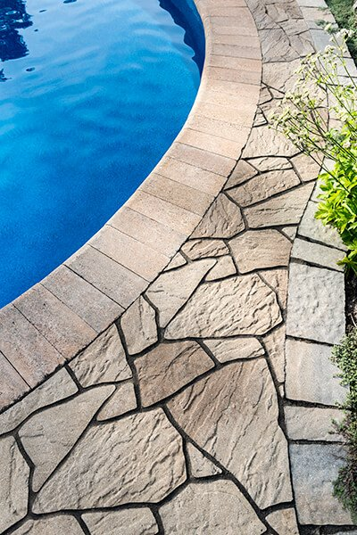 pool coping Bullnose Smooth couronnement de piscine 00917 02 9397