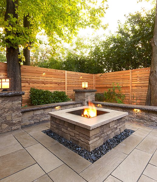 retaining wall blocks Prescott Wall muret 01047 09 0306 pano