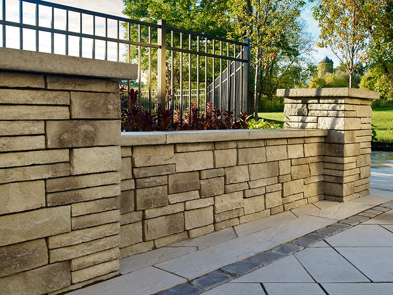 retaining wall blocks Prescott Wall muret A00404 09
