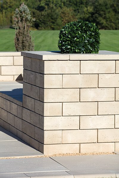 retaining wall blocks Travertina Wall muret01062 05 118